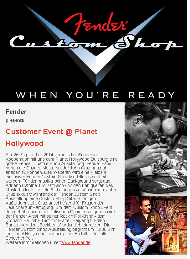 ++ News ++ Planet Hollywood ++ Fender Customer Event ++ Lunch Deal ++ News ++ Planet Hollywood ++ Fender Customer Event ++ Lunch Deal ++ (1)
